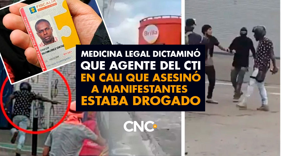 Medicina Legal dictaminó que agente del CTI en Cali que asesinó a manifestantes estaba drogado