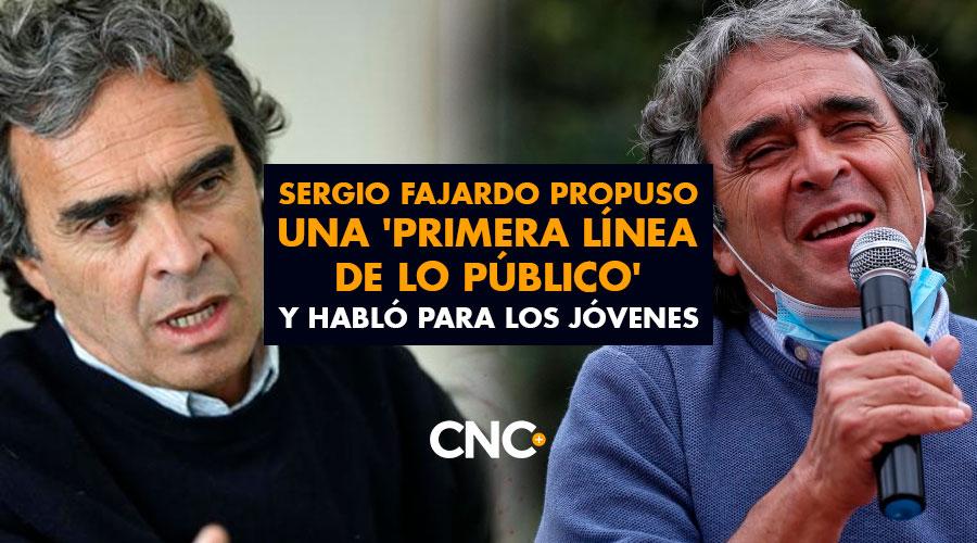 Sergio Fajardo también propuso una 'Primera Línea de lo Público' y habló para los jóvenes