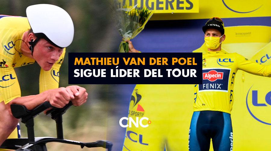 Mathieu Van Der Poel sigue líder del Tour
