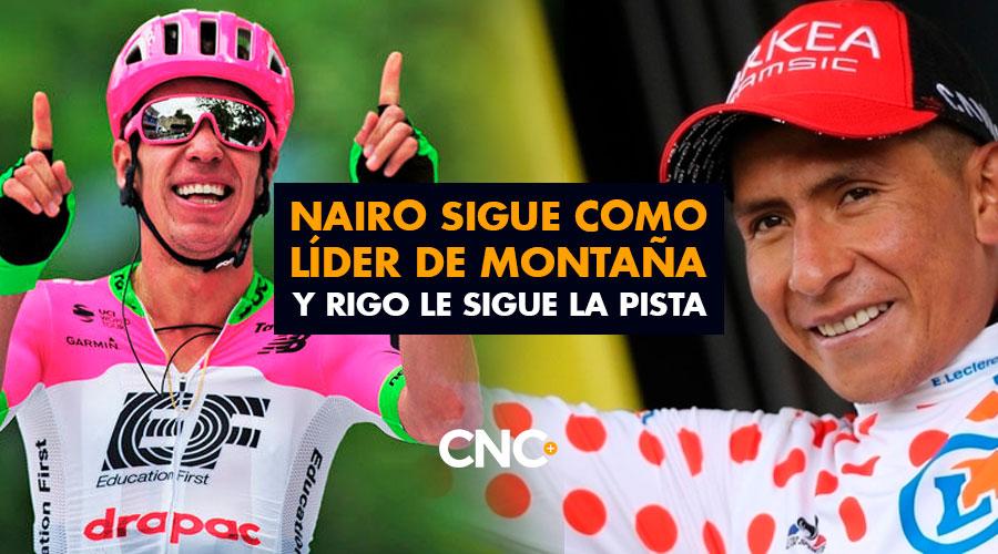 Nairo sigue como líder de Montaña y Rigo le sigue la pista