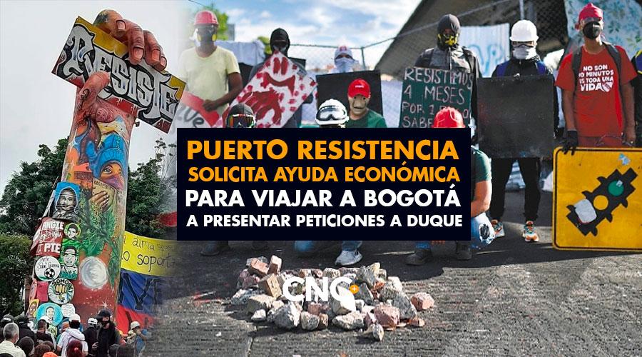 Puerto Resistencia solicita ayuda económica para viajar a Bogotá a presentar peticiones ante el Presidente Duque