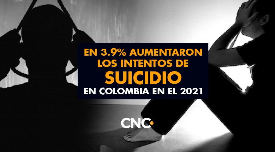 En 3.9% Aumentaron los intentos de SUICIDIO en Colombia en el 2021