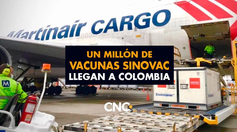 Un Millón de vacunas Sinovac llegan a Colombia