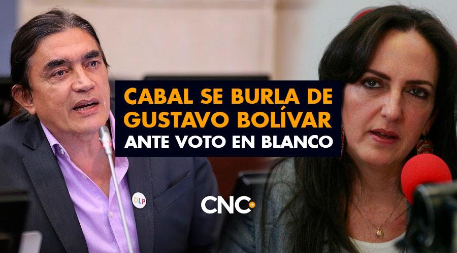 """""""Histórico, como dicen los mamertos"""": Cabal se burla de Gustavo Bolívar ante voto en blanco"""