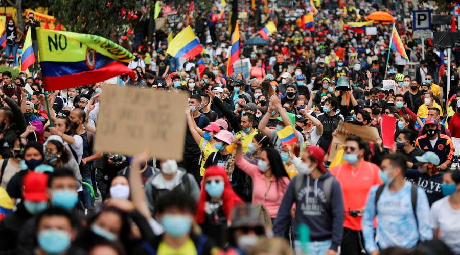 NUEVAS PROTESTAS EN COLOMBIA