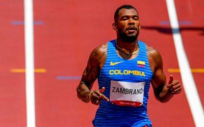 Anthony Zambrano se metió en final de 400 metros planos y rompió un récord