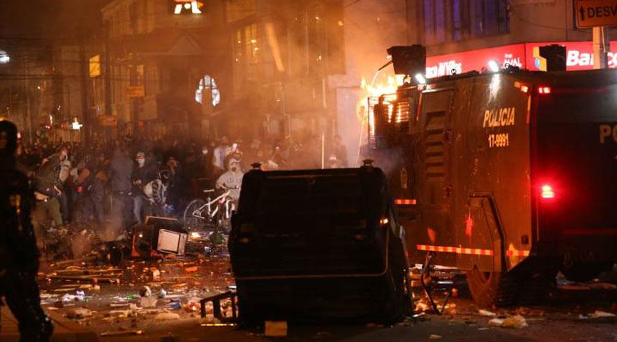 Disturbios y Protestas en Bogotá